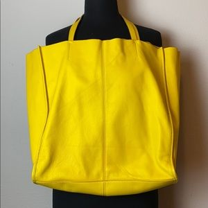 GAP Leather Large Tote Bag